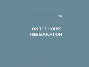 FREE Education on The House